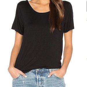 Chaser Black T Back Shirttail Tee Shirt Top NWT